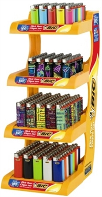 Bic Lighters Display 200 ct Sugg Ret $1.79 ***Limited Edition***