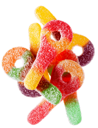 Candy Dude Sour Keys Cup 6/125g Sugg Ret $2.49