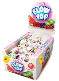 Charms Assorted Blow Pops 48/ Sgg Ret $0.39