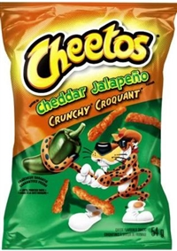 Cheetos 54g Crunchy Cheddar Jalapeno Snack 40's Sugg Ret $1.50