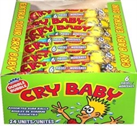 Cry Baby Tube Gum 24/66g  Sugg Ret $1.19