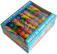 Dubble Bubble Assorted 6 Ball Gumball Tube 24/ Sugg Ret $1.19