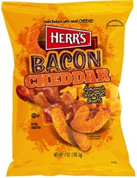 Herr's Baked Bacon Cheddar Cheese Curls 9/198g Sugg Ret $4.99
