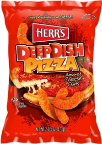 Herr's Baked Deep Dish Pizza Cheese Curls 12/198g Sugg Ret $4.99
