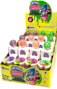 Mini Sour Flush Candy 24/15g Sugg Ret $1.69