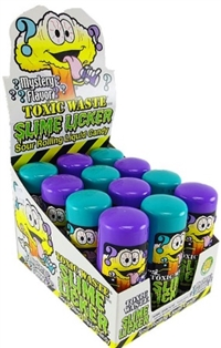 Toxic Waste Slime Licker Sour Rolling Mystery Candy 12/60g Sugg Ret $4.99