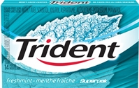 Trident Freshmint SuperPak 14 pack Sugg Ret $1.99