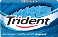 Trident Peppermint SuperPak 14 pack Sugg Ret $1.99