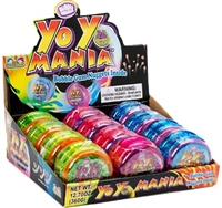 Yo Yo Mania Bubble Gum Dispenser 12/30g Sugg Ret $2.49