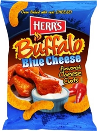 Herr's Baked Buffalo Blue Cheese Curls 12/198g Sugg Ret $4.99