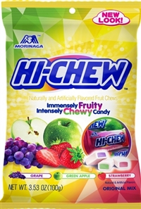 Hi Chew Original Mix Peg Bag 6/100g Sugg Ret $4.89