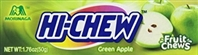 Hi Chew Green Apple Fruit Chews 10/50g Sugg Ret $1.99