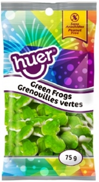 Huer 75g Green Frogs 12/75g Sugg Ret $1.39