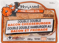 Hygaard Double Double Bacon Cheese Burger 1/334g Sugg Ret $9.99