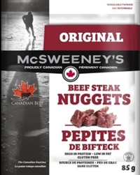 McSweeney's 85g Original Nuggets Beef Steak 12/ Sugg Ret $7.89***All New All Canadian***