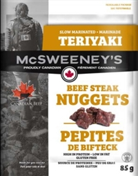 McSweeney's 85g Teriyaki Nuggets Beef Steak 12/ Sugg Ret $7.89***All New All Canadian***