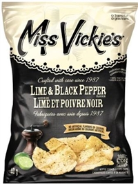 Miss Vickie's 40g Lime & Black Pepper Kettle Potato Chip 40's Sugg Ret $1.50