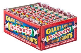 Rockets Candy Roll 24ct Sugg Ret $1.39