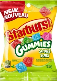Starburst Peg Sour Gummies Original 12/164g Sugg Ret $4.59